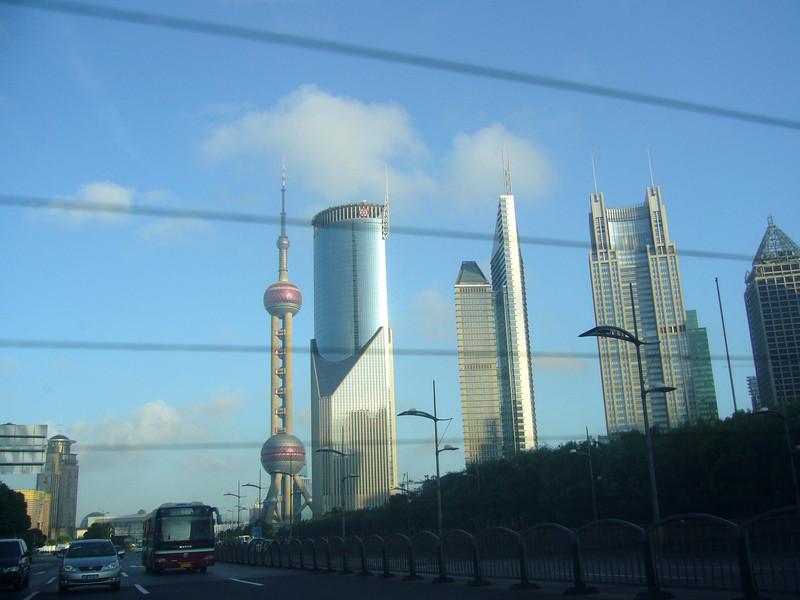 Bund from Jun Mao Tower, Hyatt, Pudong, Shanghai  Aug 2006