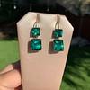 Georgian Double Drop Emerald Paste Earrings 13