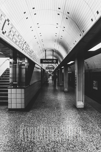 Chicago Ave. Red Line Subway Station
