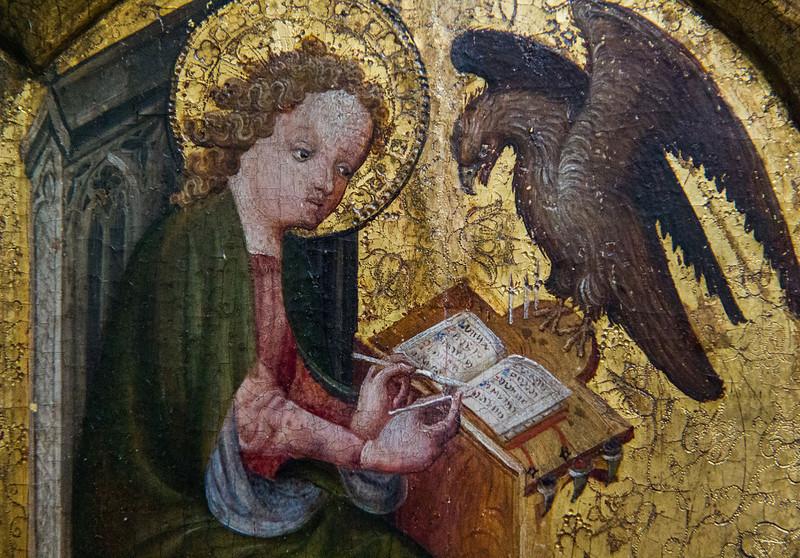 """..., und Webseiten gestalten (""""Triptychon mit der hl. Dreifaltigkeit"""", Niederländisch, um 1390, noch in der Gemäldegalerie)"""