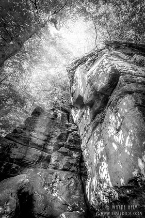 Rock Perspective - Black & White Photography by Wayne Heim