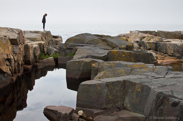 looking over the edge, at the tip of the Schoodic Peninsula, Acadia National Park
