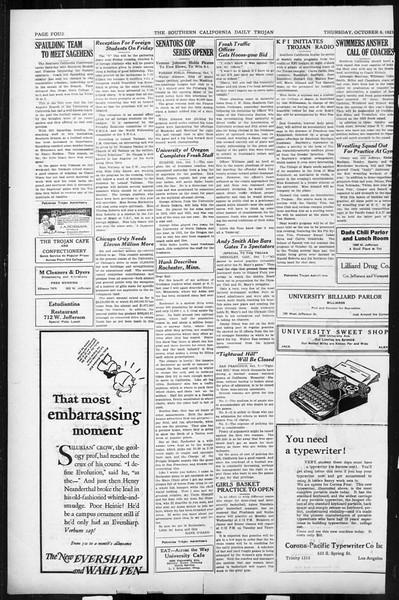Daily Trojan, Vol. 17, No. 17, October 08, 1925