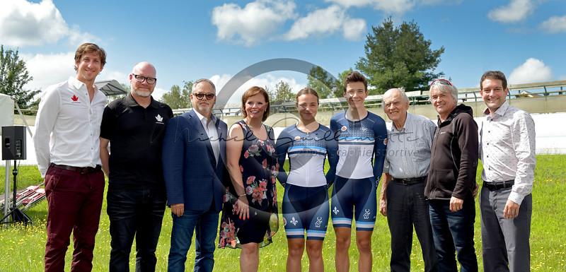 Conférence de presse     Vélodrome du Centre national de cyclisme de Bromont
