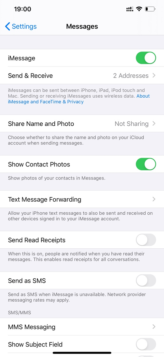 Now you can use BOTH lines for iMessages in iOS13