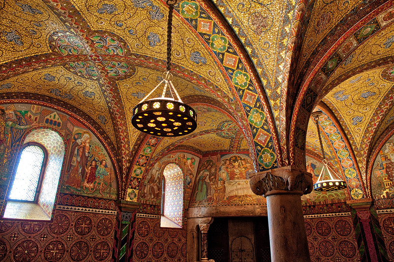 Mosaic Interior Ceilings, Wartburg Castle, Eisenach, Germany