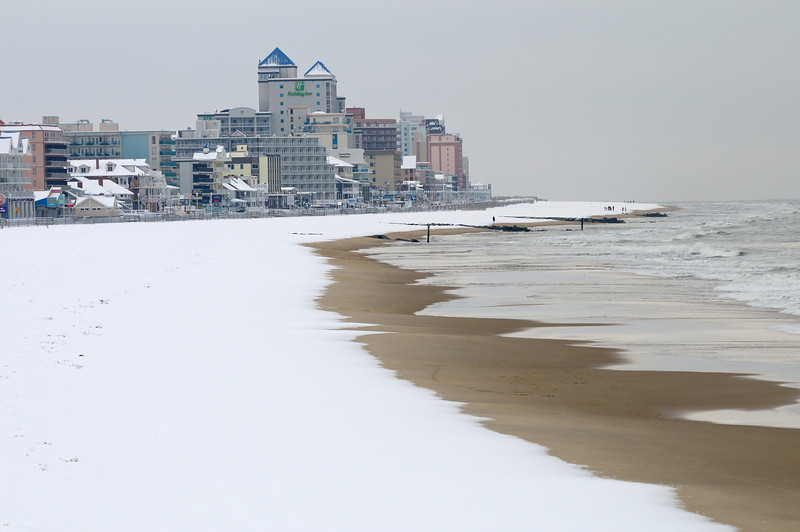 Beach with snow is always beautiful!