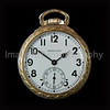 Art Deco Gold Hamilton Pocket Watch with Arabic Numerals