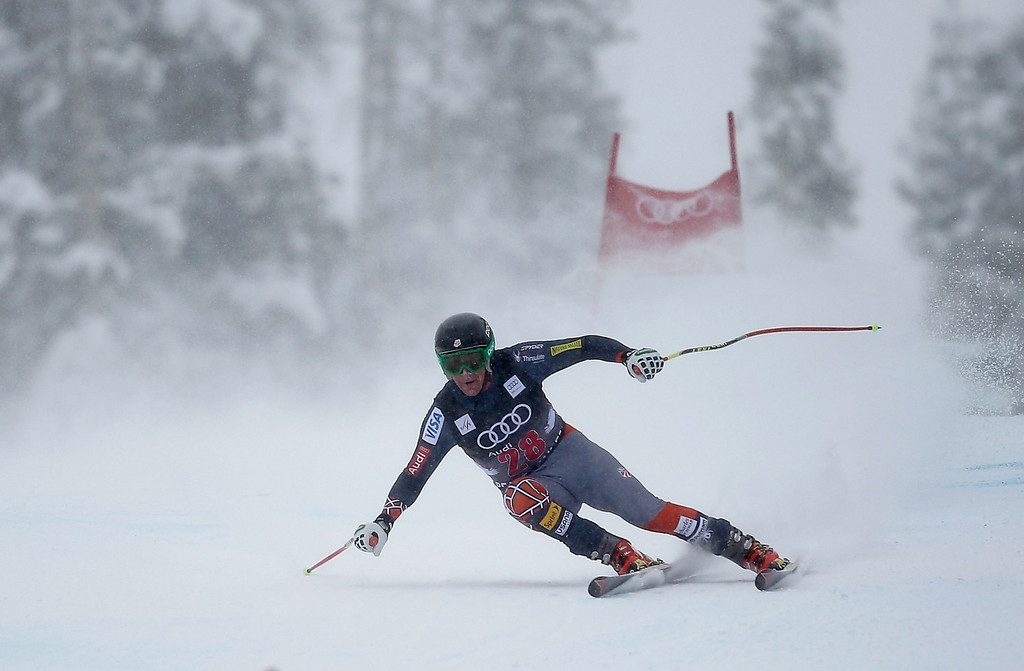 . Marco Sullivan of the USA skis during the FIS Beaver Creek Men\'s Downhill World Cup race on December 6, 2013 in Beaver Creek, Colorado.  (Photo by Ezra Shaw/Getty Images)