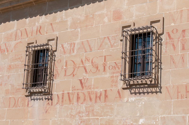 Wall details of Universidad Internacional de Analucia in Baeza, Spain