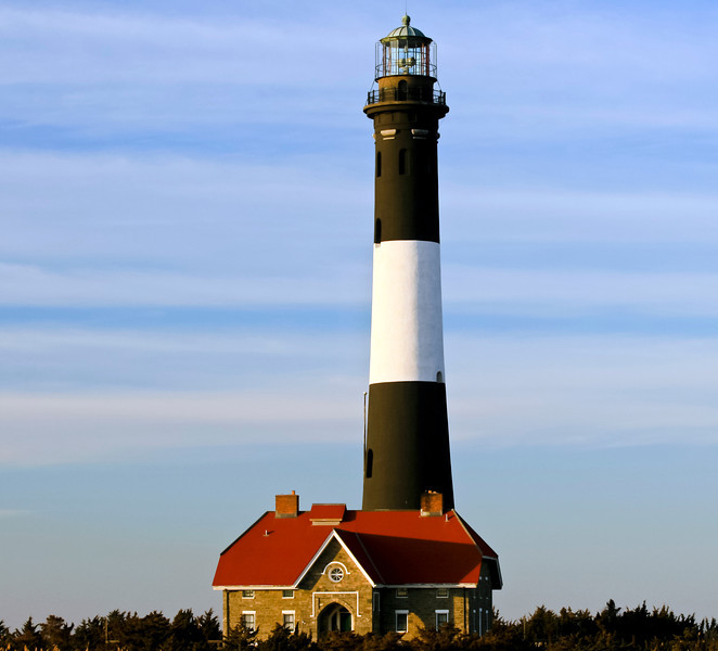 The Fire Island Lighthouse is on the western part of Fire Island National Seashore.On Long Island NY.