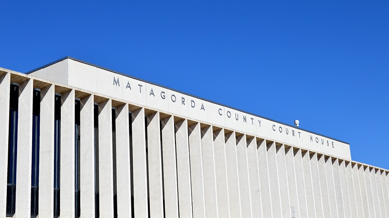 Matagorda County Court House - Building Signage