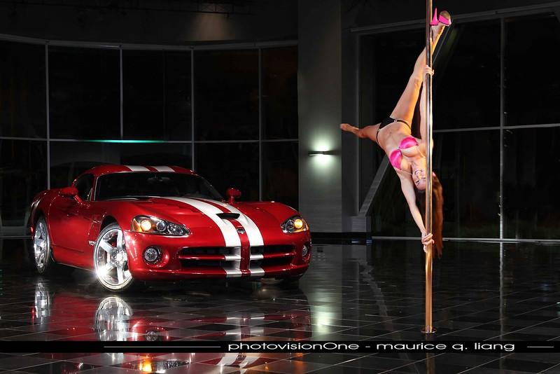 Poledancer.  2008 Viper SRT10. Model: AnnaLiza