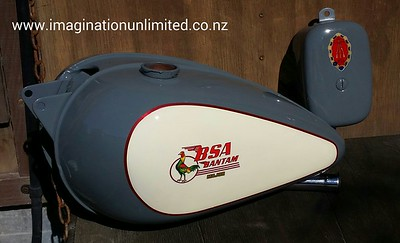 BSA petrol and oil tanks by Dean Lawrence