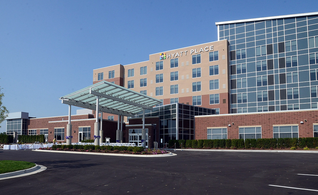 . The new Hyatt Place hotel, connected to the Suburban Collection Showplace in Novi, celebrated their grand opening today, Tuesday August 20, 2013. (Oakland Press Photo:Vaughn Gurganian)