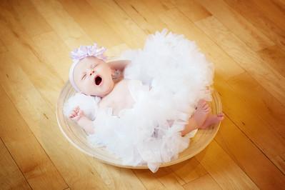 Baby Francesca, 3 weeks old