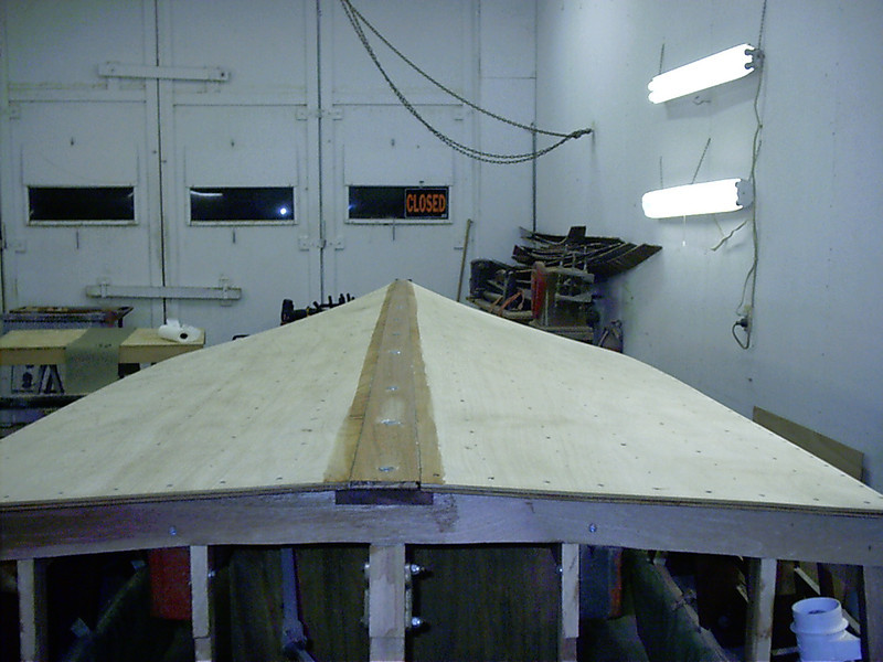 Rear view of keel cap installed.
