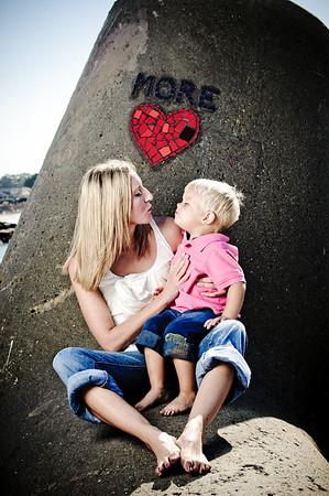 Andy + Dawn = Alexander (Family Photography, Seabright Beach, Santa Cruz, California)