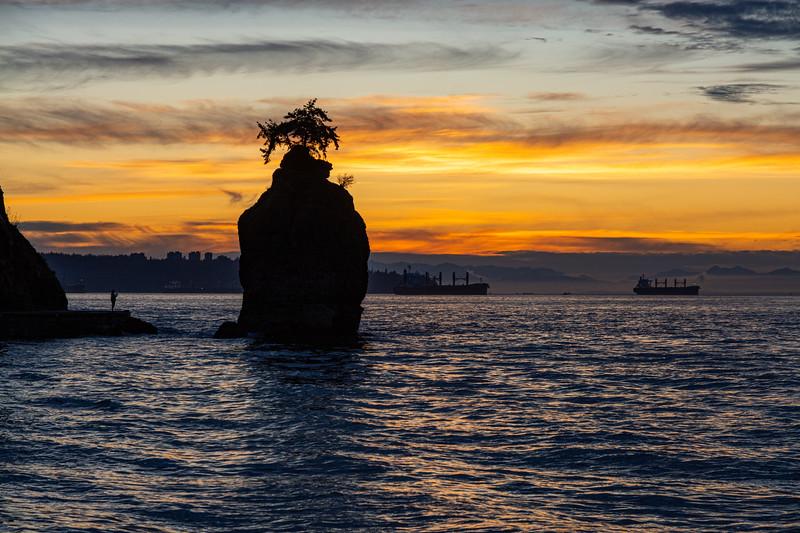 Siwash Rock at Sunset