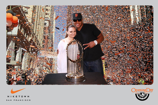 World Series Trophy At NikeTown 2011