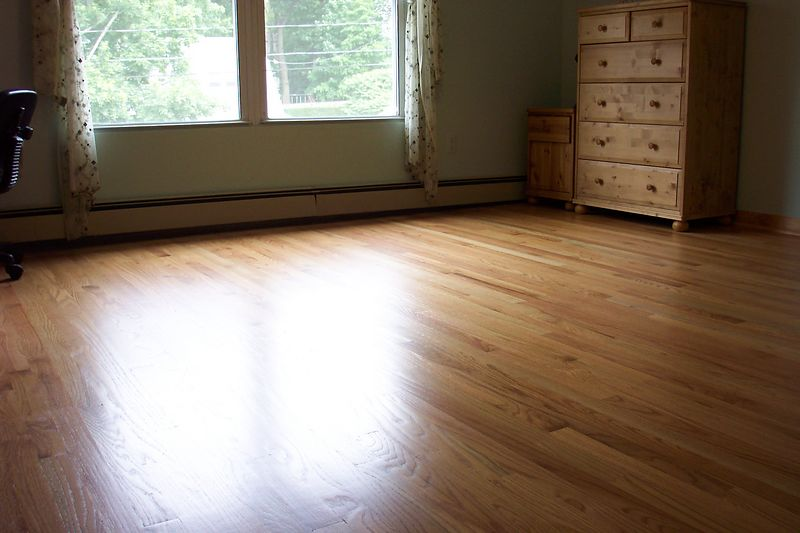 Installed wood floor
