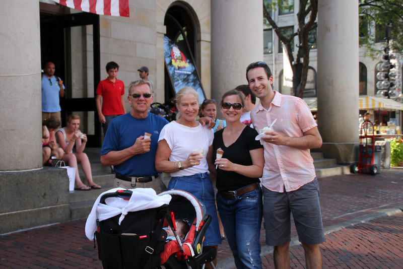 We took a walk along the Boston Harbor Walk and ended up in Faneuil Hall.