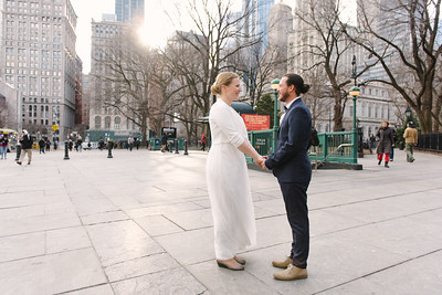 Eric Brooklyn Bridge Elopement
