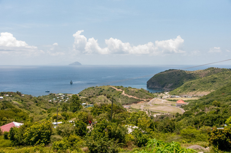 Overlooking view of the island of Montserrat