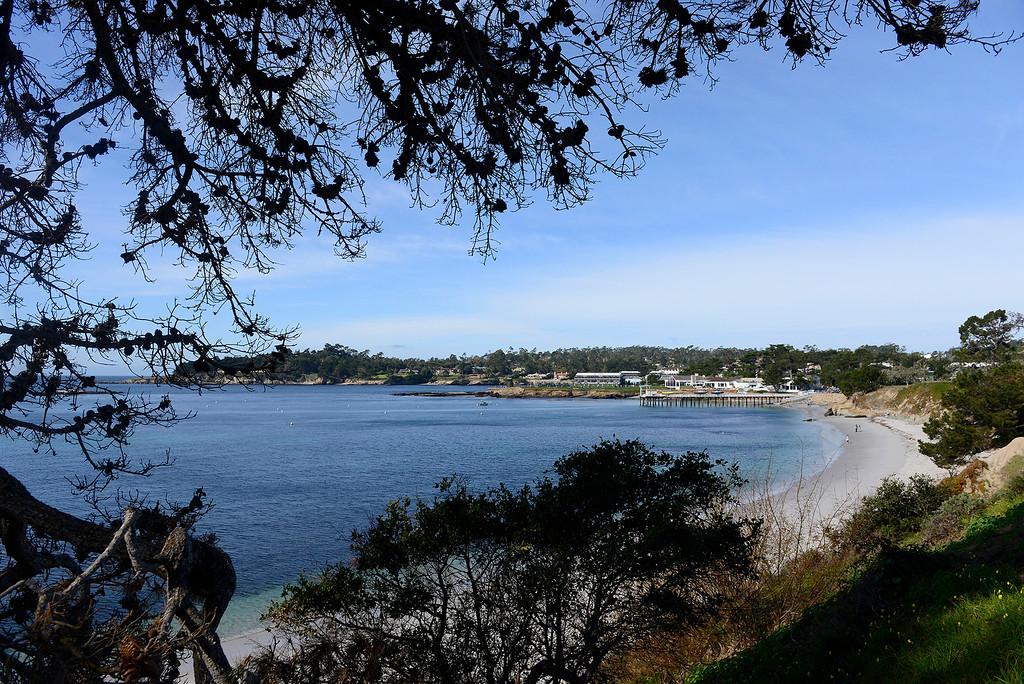 . Stillwater Cove at the Pebble Beach Golf Links during the final round of the AT&T Pebble Beach Pro-Am on Sunday, Feb. 11, 2018.  (Vern Fisher - Monterey Herald)