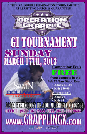 March 17, 2013 Murrieta, CA GI Tourney