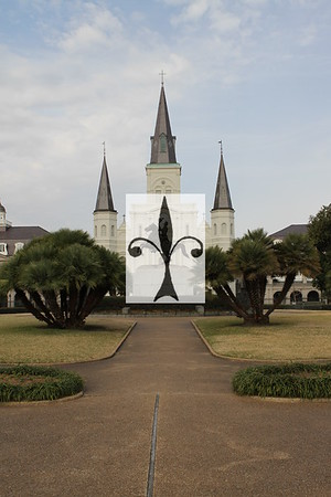 ST LOUIS CATHEDRAL AND REVERSE