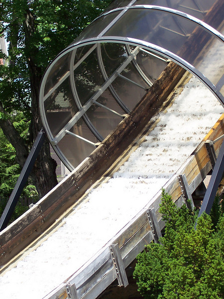 Water is again running down the Boston Tea Party chute, after being dry earlier in the season.