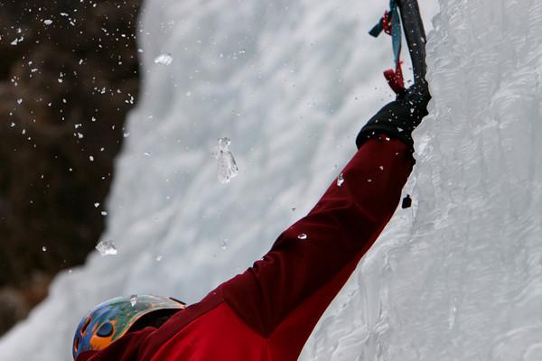Ice Climbing, Hell-roaring Falls - MT