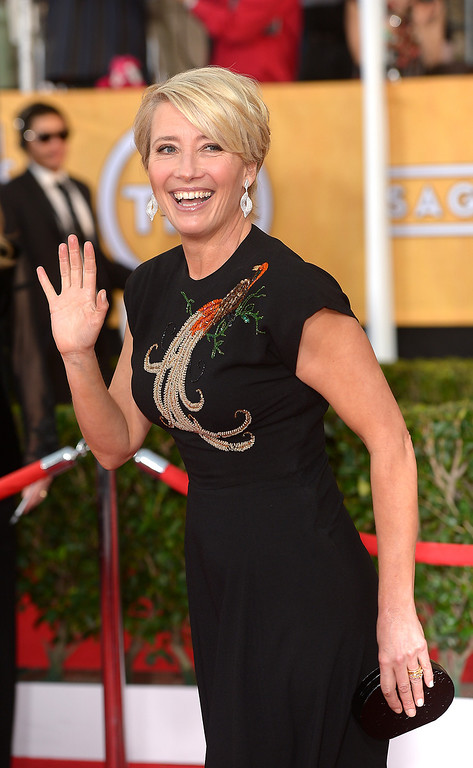 . Emma Thompson arrives at the 20th Annual Screen Actors Guild Awards  at the Shrine Auditorium in Los Angeles, California on Saturday January 18, 2014 (Photo by Michael Owen Baker / Los Angeles Daily News)