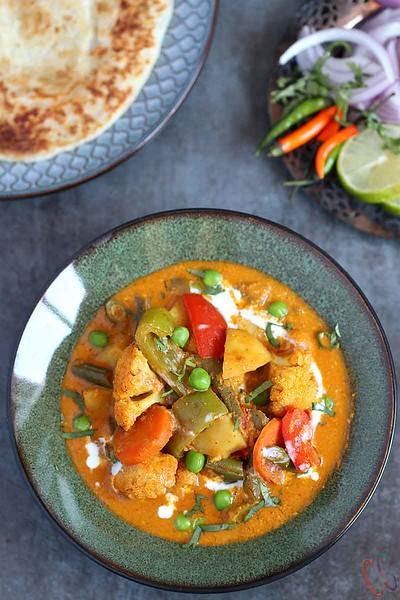 Vegetable Korma Indian dish