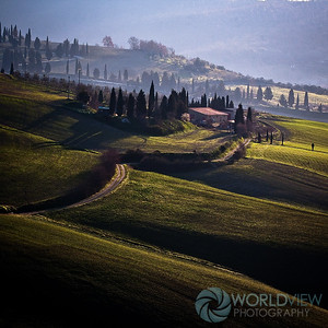 Tuscan sweet light in the springtime (near Pienza, Italy)