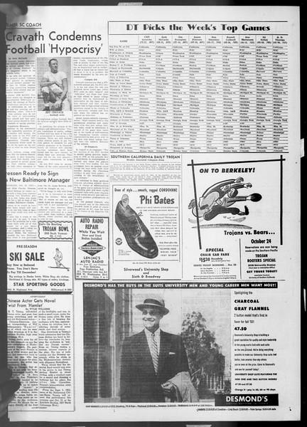 Daily Trojan, Vol. 45, No. 20, October 16, 1953