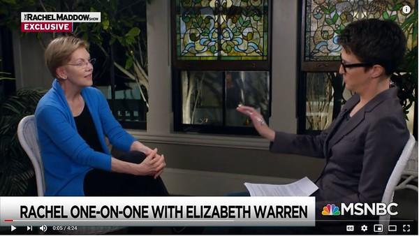 Elizabeth Warren on Rachel Maddow Show