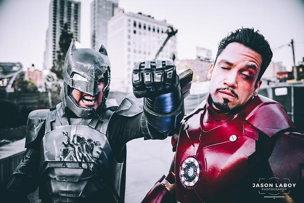 DC vs Marvel Cosplay Photoshoot