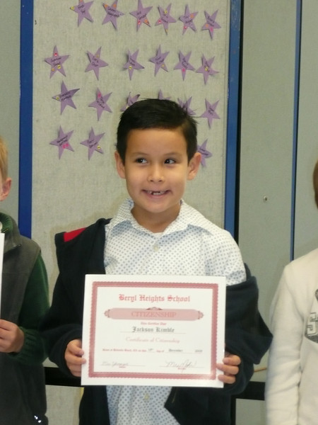 2009 Dec 18 Jackson's Citizenship Award