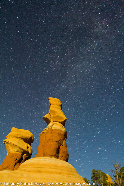 Devil's Garden and the Milky Way. At one point in its' Geologic past this was an Arch.