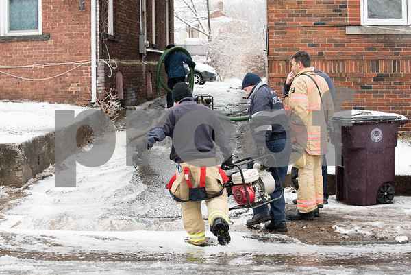 01/17/18 Wesley Bunnell   Staff The New Britain Fire Department battled a structure fire at 42 Connerton St. starting late on Tuesday night and continued into Wednesday morning. The building sustained severe damage with with interior structural collapse and a total roof collapse. One firefighter was injured and transported to the hospital for observation and released. New Britain Firefighters carry a second pump to assist in pumping out the several inches of water which accumulated in the basement from firefighting efforts.