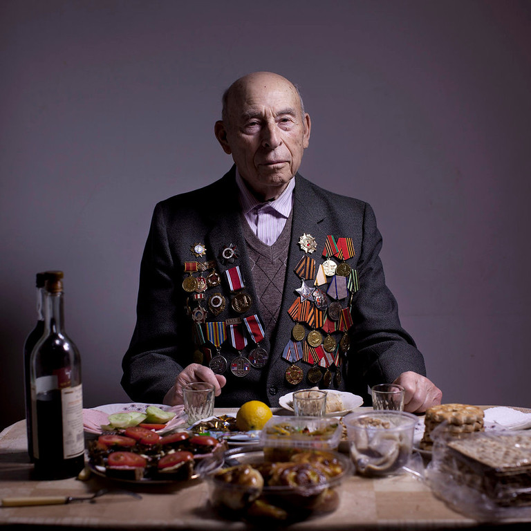 . Soviet Jewish World War Two veteran Boris Ginsburg poses for a portrait at his house in the southern Israeli city of Ashdod. Ginsburg, born in Belorussia, was kept by a German garrison in the Lenin ghetto since 1941 until its destruction by partisan units in September 1942. In 1942 he joined the partisans for two years and in 1944 he joined the Red Army as a combat soldier and fought till the and of the war. Ginsubrg demobilized in 1947 and immigrated to Israel in 2001. About 500,000 Soviet Jews served in the Red Army during World War Two, and the majority of those still alive today live in Israel.   (AP Photo/Oded Balilty)