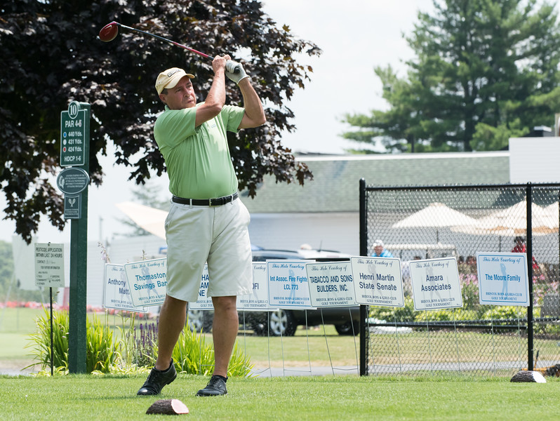 07/16/18  Wesley Bunnell | Staff  The 2018 Mayor's Cup Golf Outing took place on Monday morning at Chippanee Country Club benefitting the Boys and Girls Club of Bristol. Bill Stevens tees off on the 10th hole.