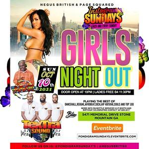 INSTAGRAM SUNDAYS PRESENTS GIRLS NIGHT OUT