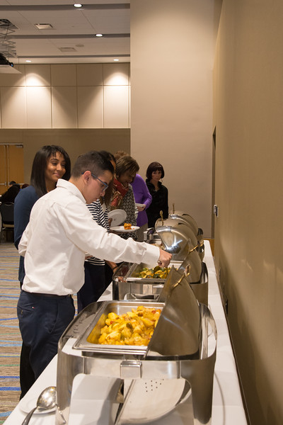 Guests grabbing food that was offered.