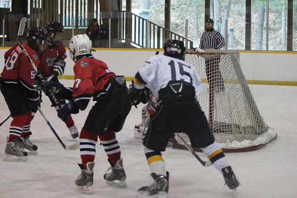 PeeWee A1 hockey vs Salisbury 2-12-12