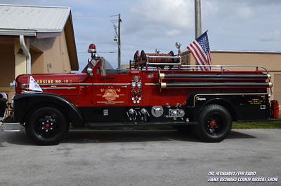 Broward Airboat Show Fire Truck Feb 2019