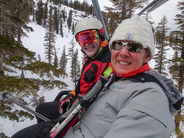 Climbing Alabama hills and skiing Mammoth