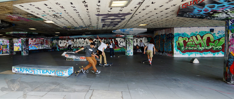 Skateboarder at the Southbank